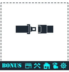 Seat belt icon flat vector