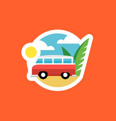 Beach van icon vector
