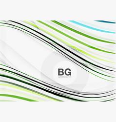 color stripes wave lines modern geometric vector image