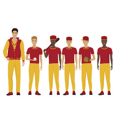 The young baseball players vector