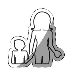 Outlined people family unity vector