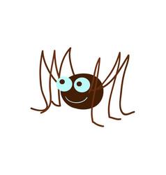 Funny spider cartoon vector