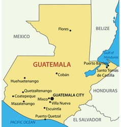 Republic of guatemala - map vector