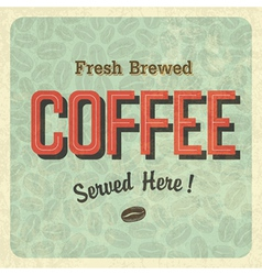 coffee retro poster vector image