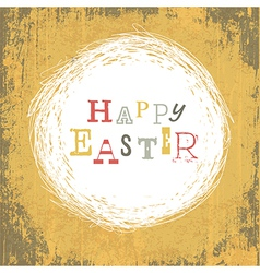 grungy easter card vector image