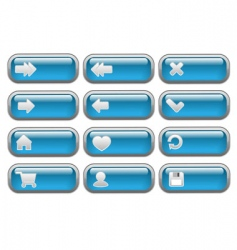 Shiny internet buttons set vector