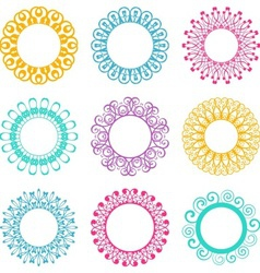 Napkin lace design elements vector