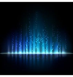 Blue aurora light abstract backgrounds vector