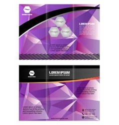 Professional business two fold flyer template cor vector