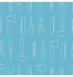 Seamless background with hand tools vector