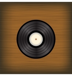 Old vinyl disc vector