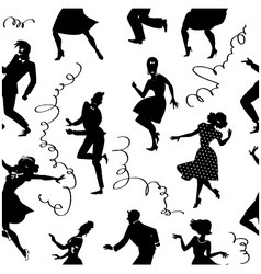 Dancing seamless pattern vector