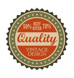 Best offer vintage tag vector
