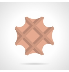 Sweet waffle flat color design icon vector