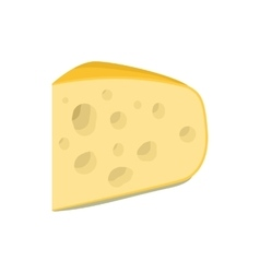 Triangular piece of cheese icon cartoon style vector