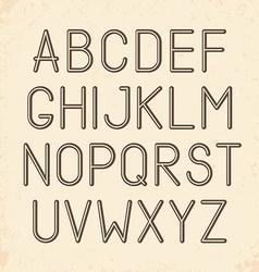 Retro alphabet type font vintage typography vector