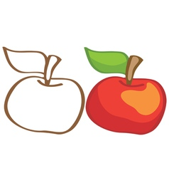 Ripe apple vector