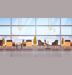 Airport waiting hall departure terminal interior vector