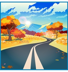 Autumn road vector image vector image
