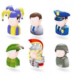 avatar people web icon set vector image vector image