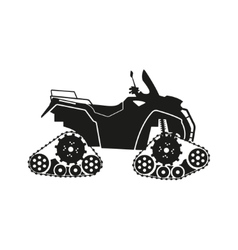 Black silhouette of the all-terrain vehicle vector image