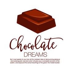 Chocolate bar isolated vector