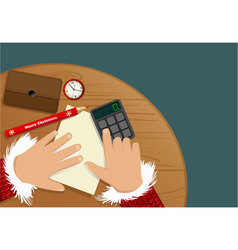 Christmas shopping list vector image vector image
