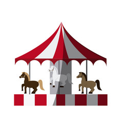 Circus carousel icon vector