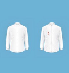 clean and dirty shirt before after washing vector image vector image