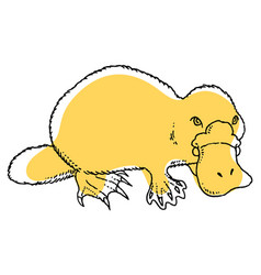 Cute platypus vector