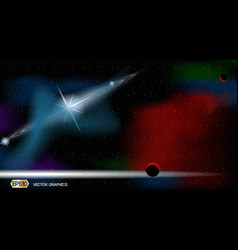 Exoplanets space ads template cosmic stars lights vector