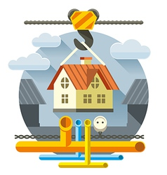 Fast flat house vector