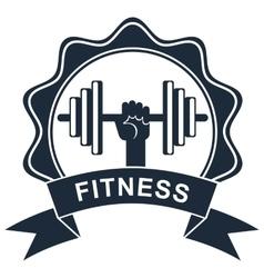 Fitness logo black vector