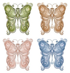 four vector bright butterflie vector image vector image