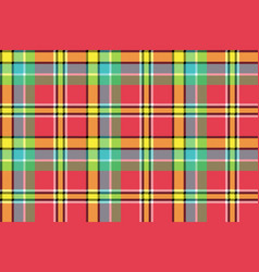 Madras check plaid pixeled seamless texture vector