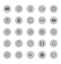 media mobile and communication icons vector image
