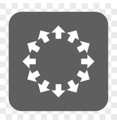 Radial Arrows Rounded Square Button vector image