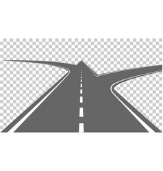 road with white markings vector image