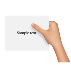 sample text blank paper vector image vector image