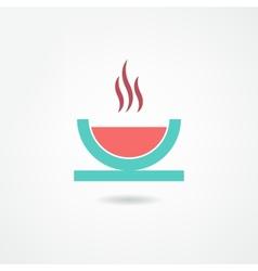 Soup icon vector
