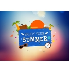 Summer trip logo design vector image