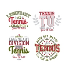 Tennis badge set vector