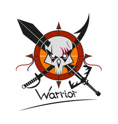 War logo skull vector