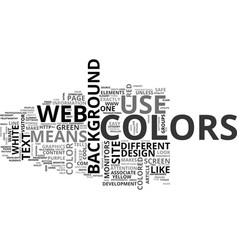 why should you care about your web site colors vector image