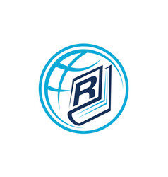 World education letter r vector