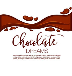 chocolate background with copy space vector image