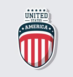 usa flag united states america shield icon vector image