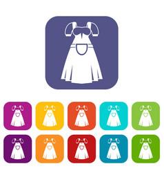 Traditional bavarian dress icons set vector