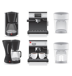 Coffee maker 07 vector