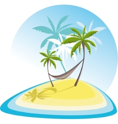 Simple with tropical island vector